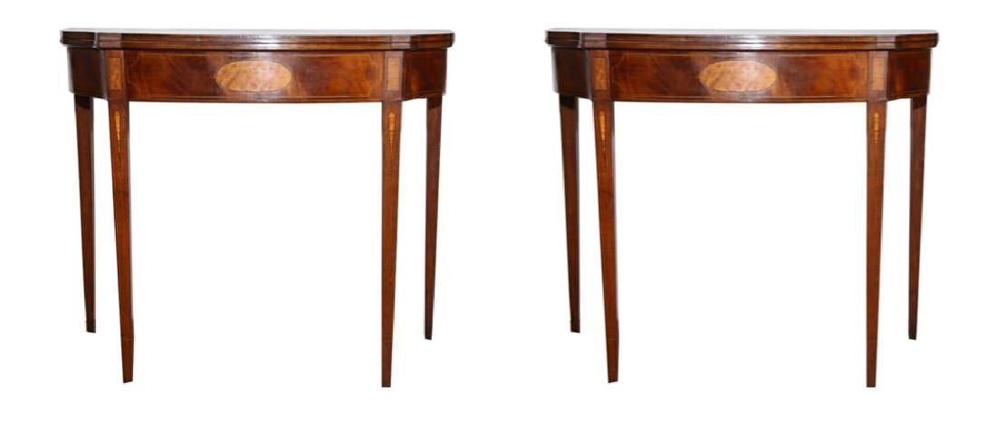 Pair of American 18th Century Matching Game Tables