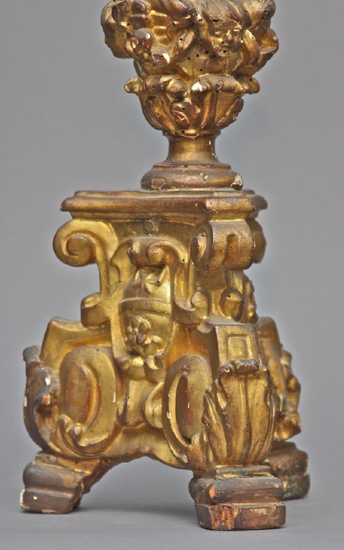 A Pair of Venetian Baroque Pricket Sticks, 18th c. - 2