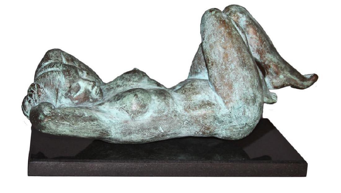 Reclining Nude Bronze, 20th century