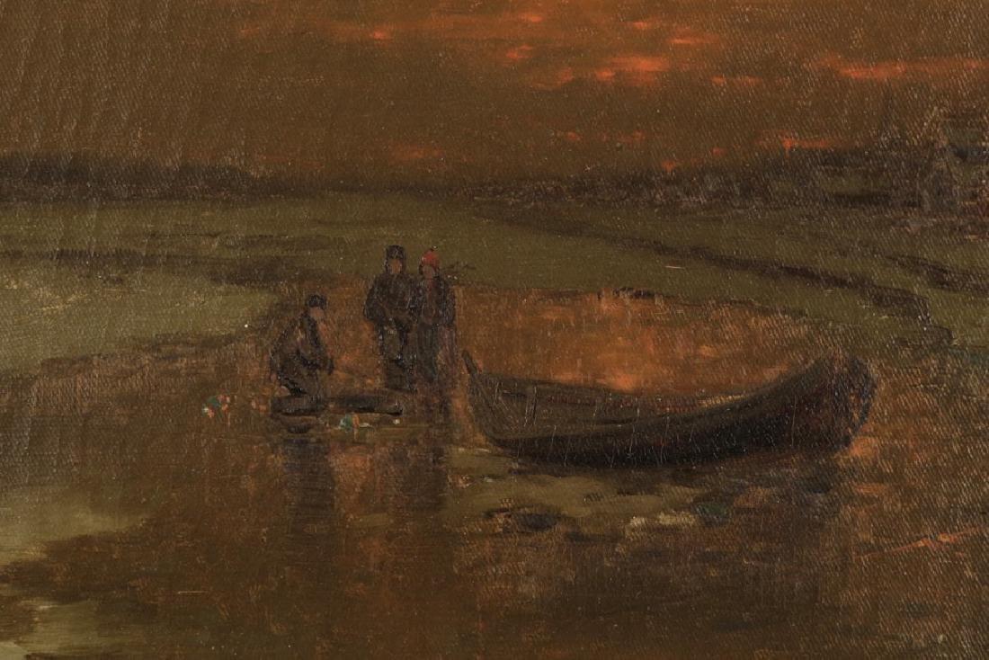 Ice Fishing at Dusk, 19th Century Dutch School - 4