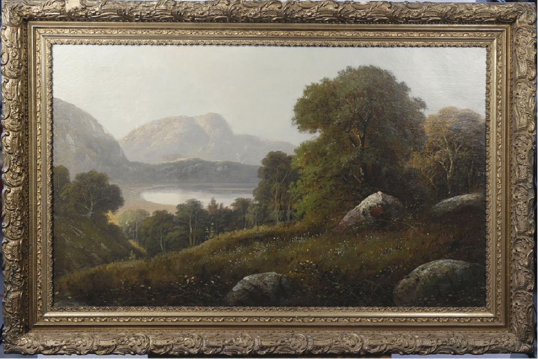 River Valley Landscape, 19th Century American School - 2