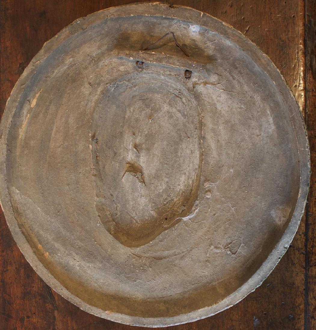 Majolica Roundel Portrait of a Roman Emperor - 5