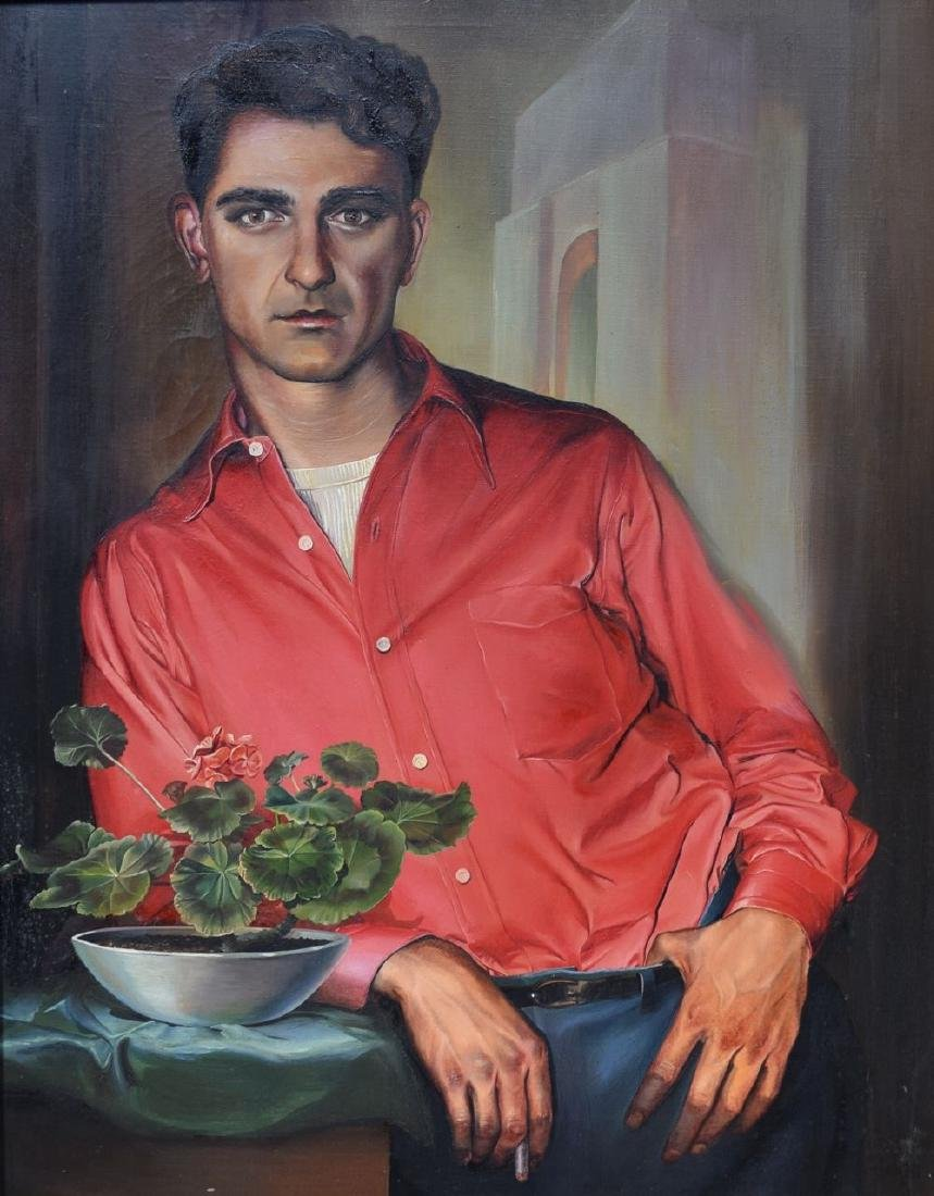Ruth Bellitto (American 1922 - 1997) Portrait of a Man