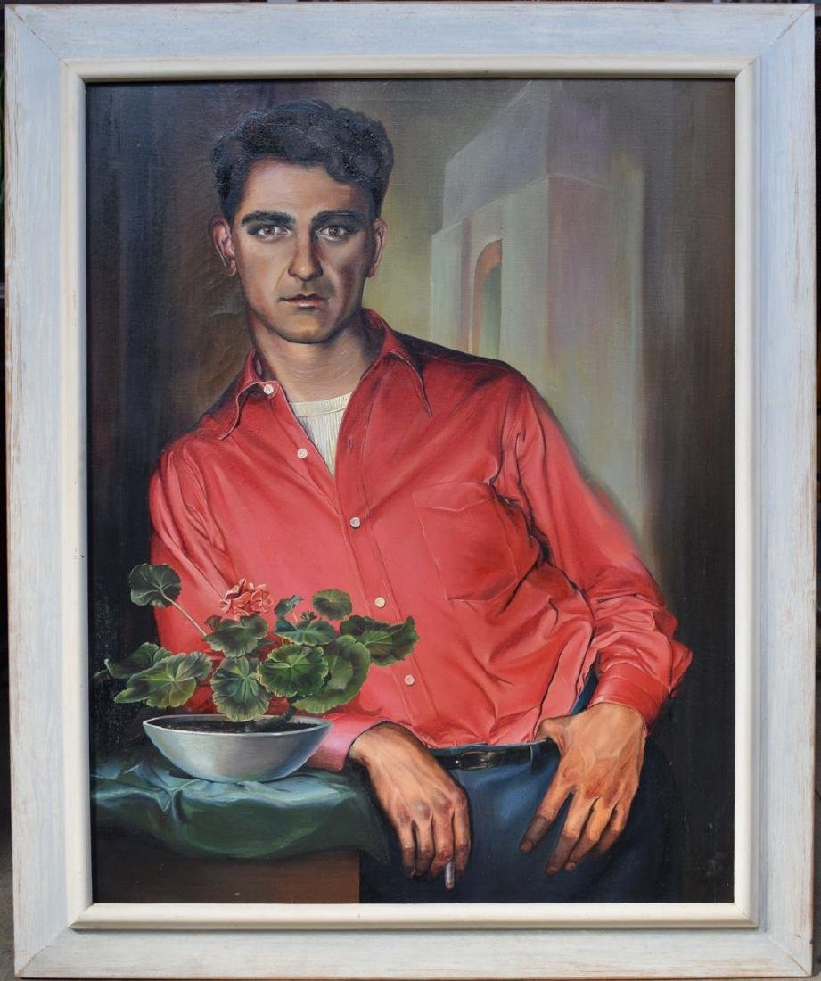 Ruth Bellitto (American 1922 - 1997) Portrait of a Man - 2