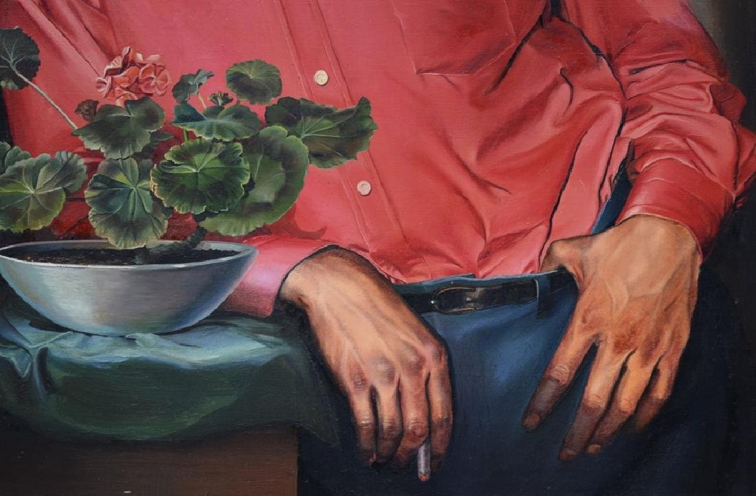 Ruth Bellitto (American 1922 - 1997) Portrait of a Man - 5