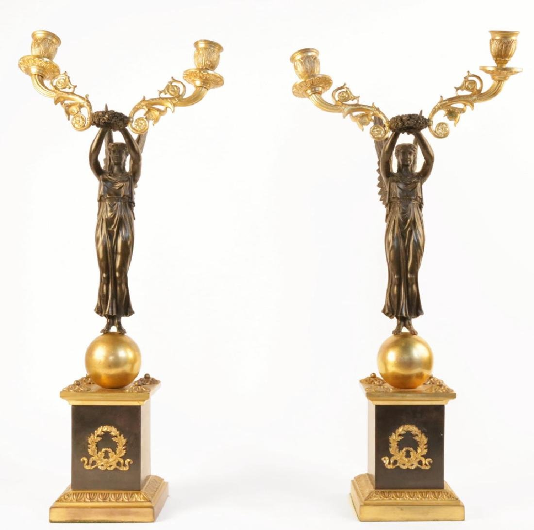 Pair Early19th Century Empire Candelabra