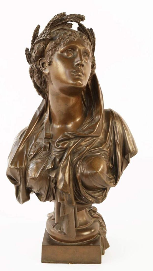 Bronze Bust of Ceres, 19th c. French School