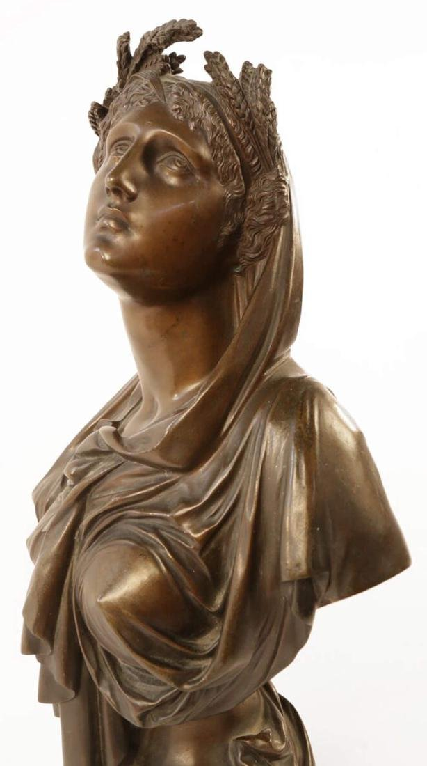Bronze Bust of Ceres, 19th c. French School - 6