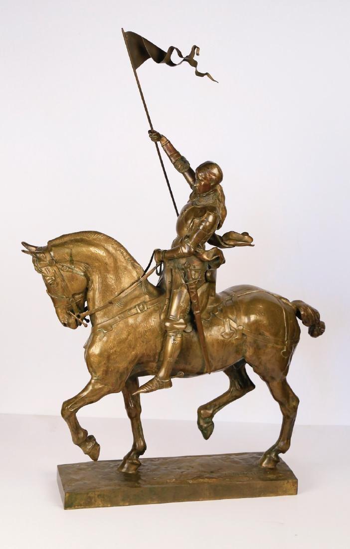 Emmanuel Fremiet (French 1824 - 1910)  Jeanne d'Arc