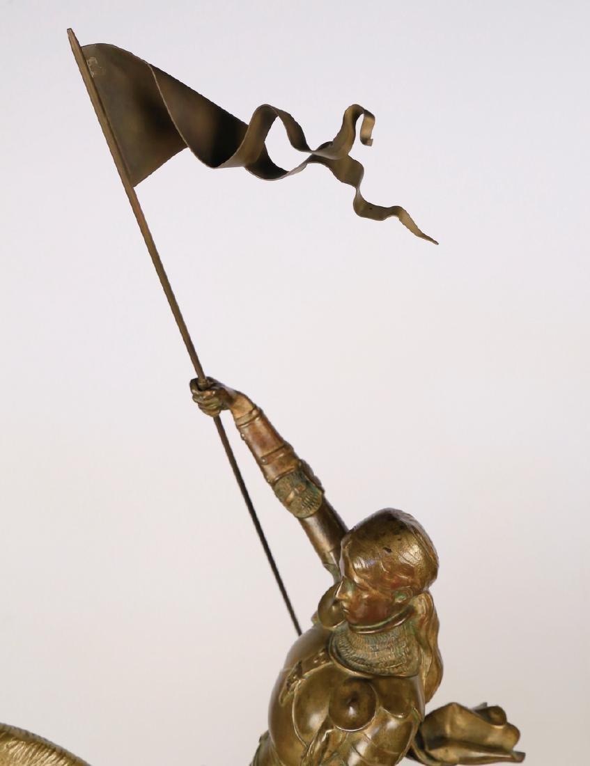 Emmanuel Fremiet (French 1824 - 1910)  Jeanne d'Arc - 5