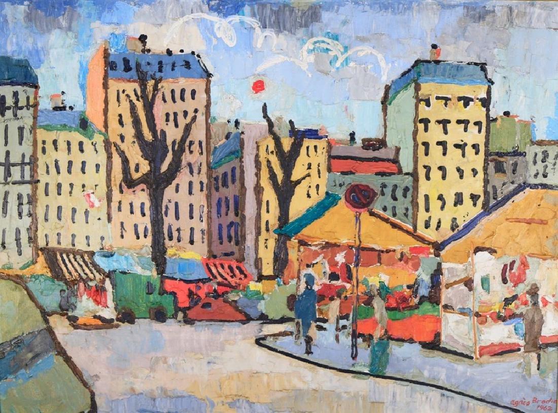 Agnes Brodie (French 20thc.) - Paris City Street, 1962