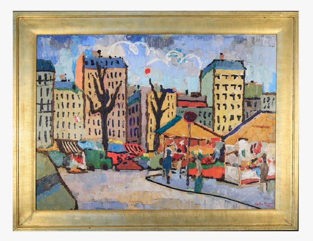 Agnes Brodie (French 20thc.) - Paris City Street, 1962 - 2