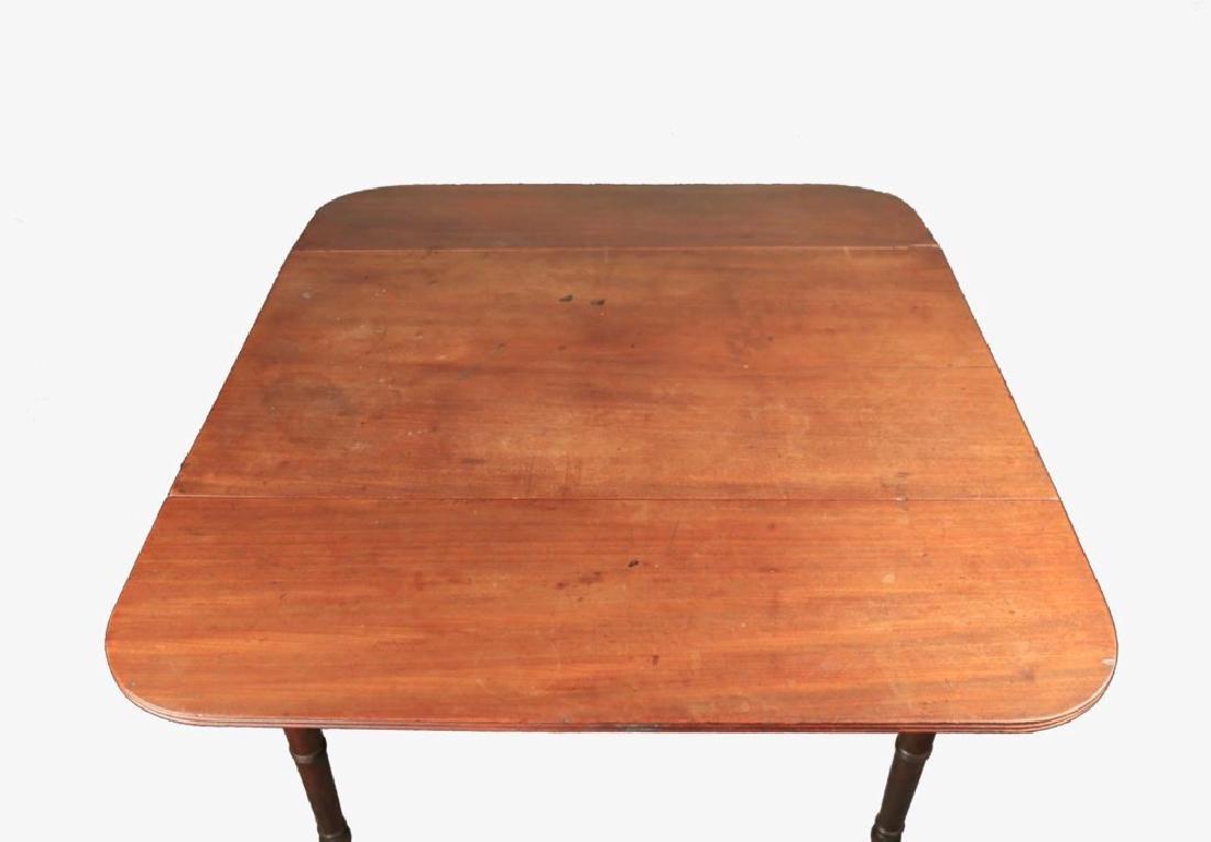 English Sheraton Mahogany Pembroke Table, 19thc. - 3