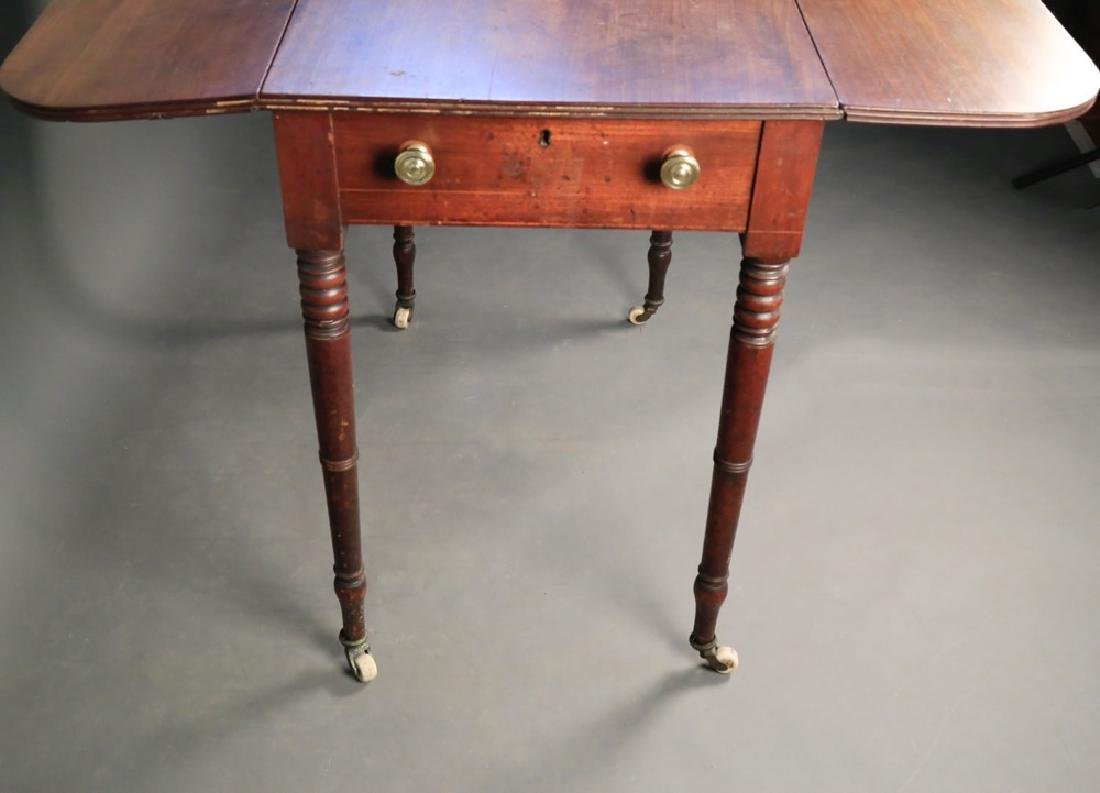 English Sheraton Mahogany Pembroke Table, 19thc. - 5
