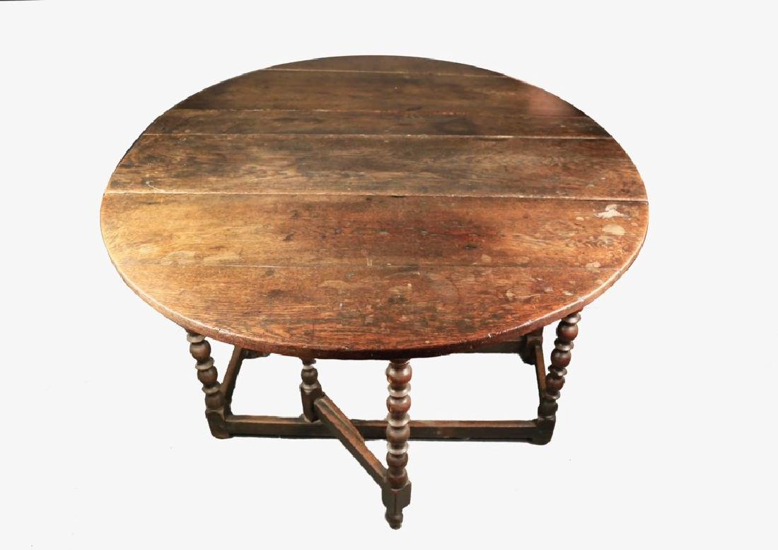 English William and Mary Oak Gateleg Table, 17th/18thc. - 2