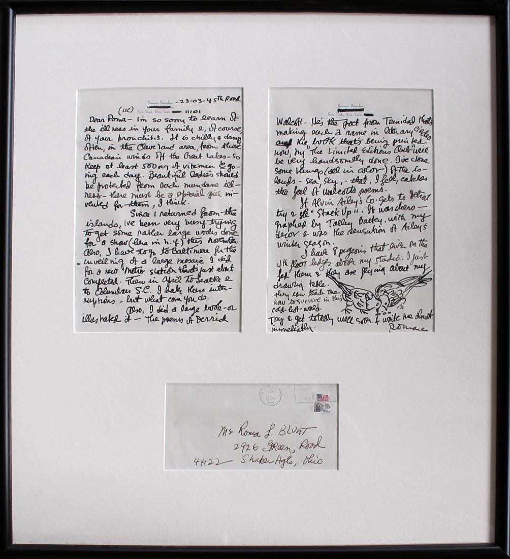 Romare Bearden (American 1911 - 1988) Framed Letters