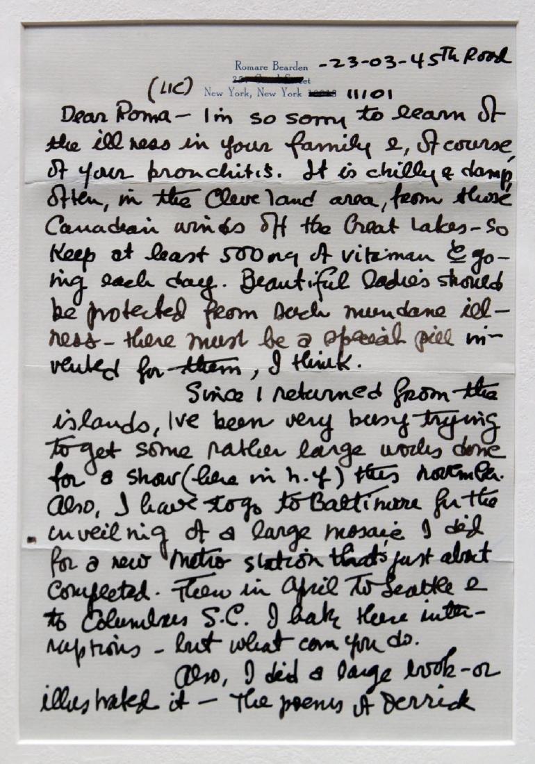 Romare Bearden (American 1911 - 1988) Framed Letters - 2