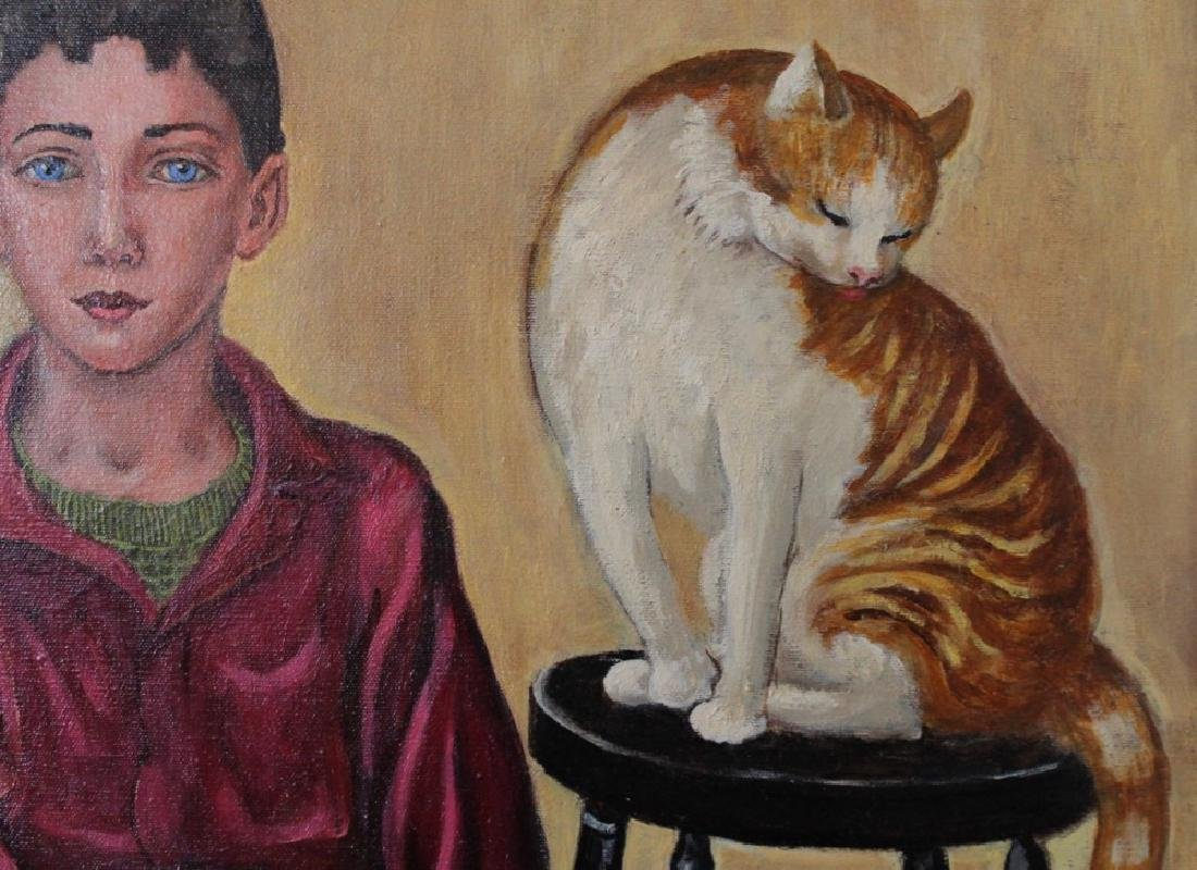 Dorothy Eaton (American 1893 - 1968) Two Boys and a Cat - 4