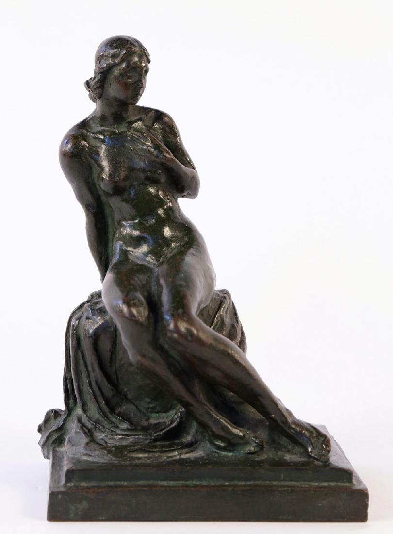Max Kalish (American 1891 - 1945) Bronze Seated Nude