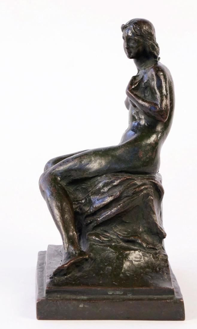 Max Kalish (American 1891 - 1945) Bronze Seated Nude - 2