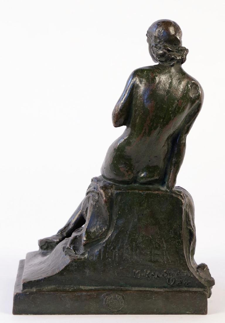 Max Kalish (American 1891 - 1945) Bronze Seated Nude - 3