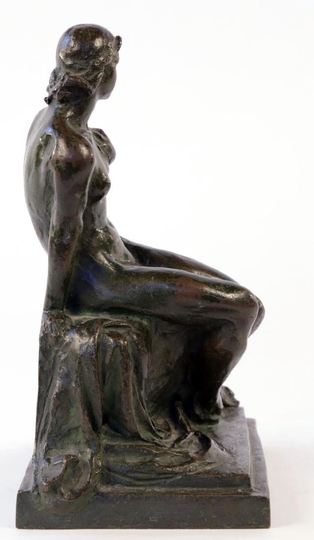 Max Kalish (American 1891 - 1945) Bronze Seated Nude - 4