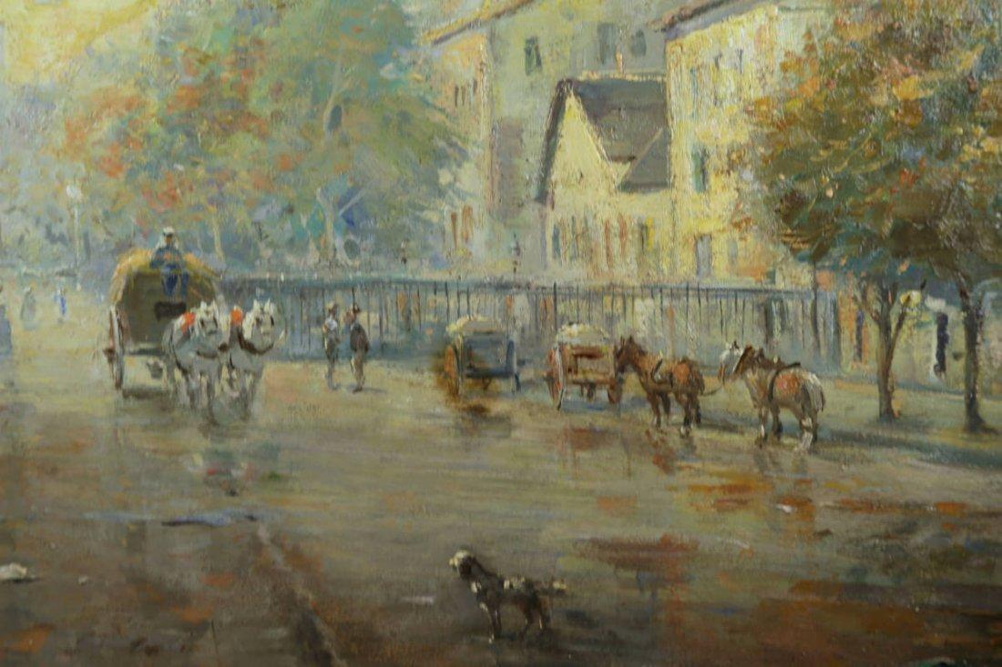 Parisian Street Scene, Avenue Montaigne, 19th Century - 3