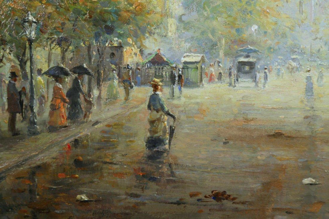 Parisian Street Scene, Avenue Montaigne, 19th Century - 4