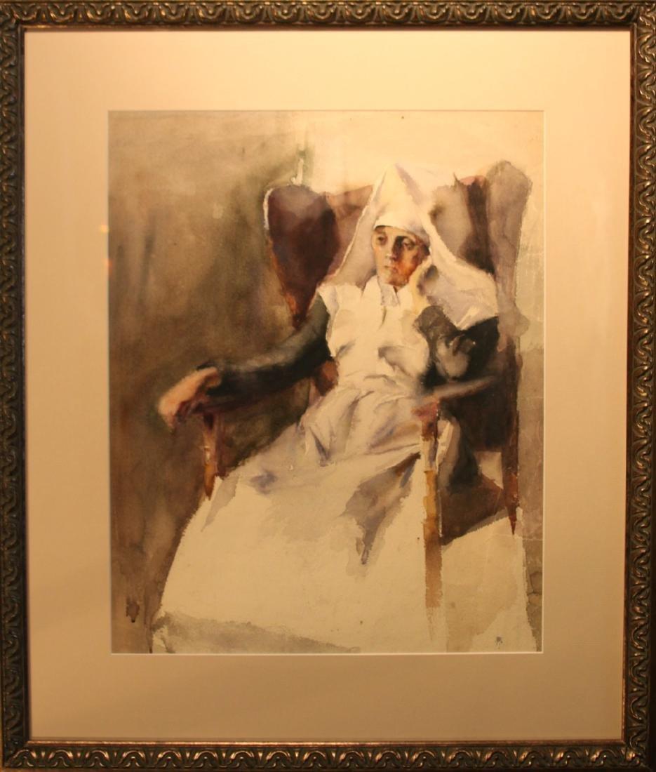 Grace Young (American 1869 - 1947) Nun - 2