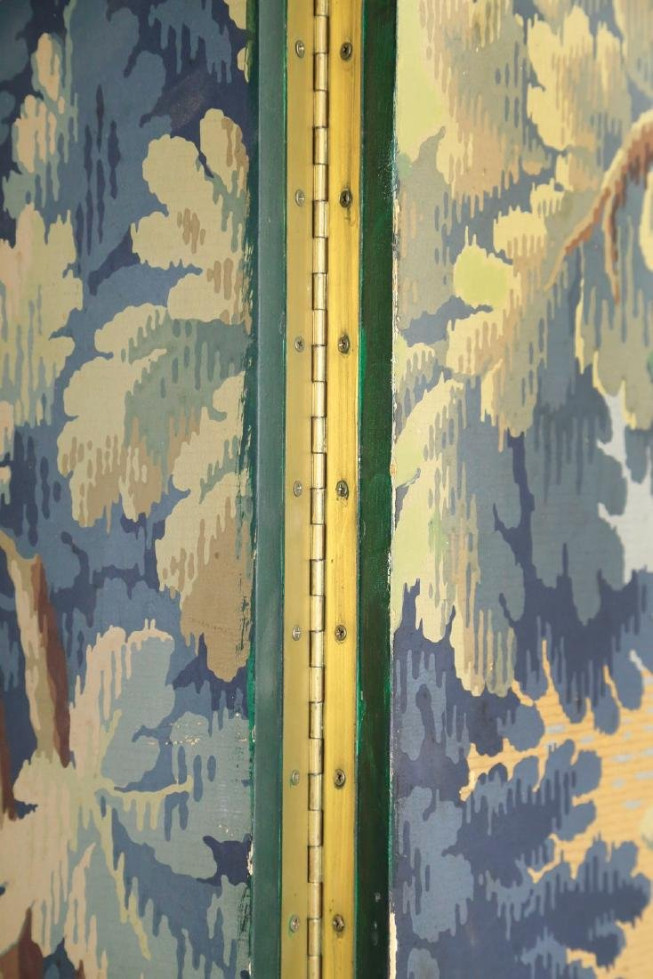 A Five Panel Verdure Tapestry Pattern Screen - 3