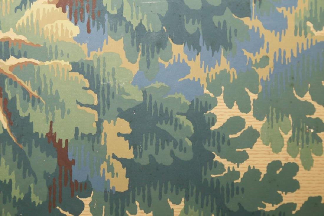 A Five Panel Verdure Tapestry Pattern Screen - 4