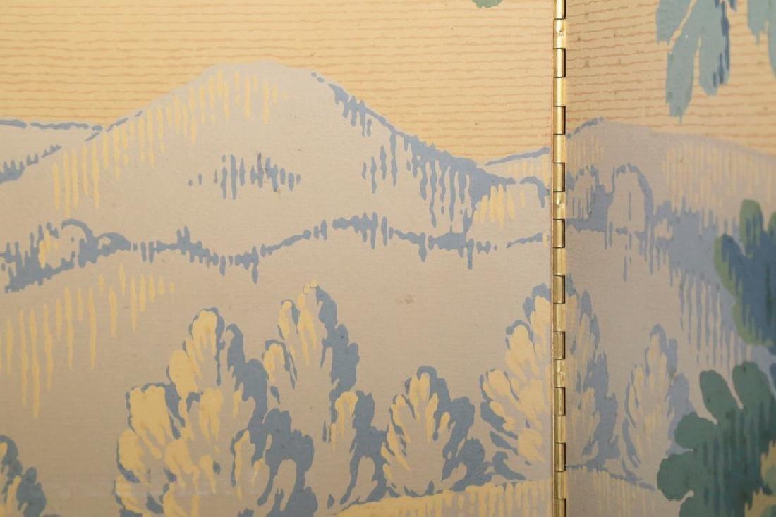 A Five Panel Verdure Tapestry Pattern Screen - 5