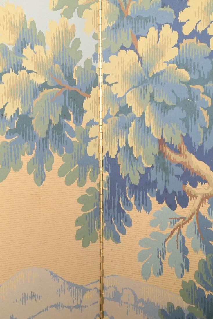 A Five Panel Verdure Tapestry Pattern Screen - 6