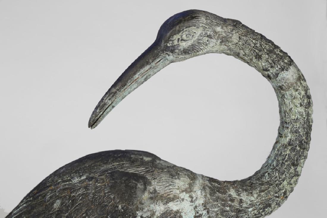 Group of Three Bronze Herons, 20thc. - 14