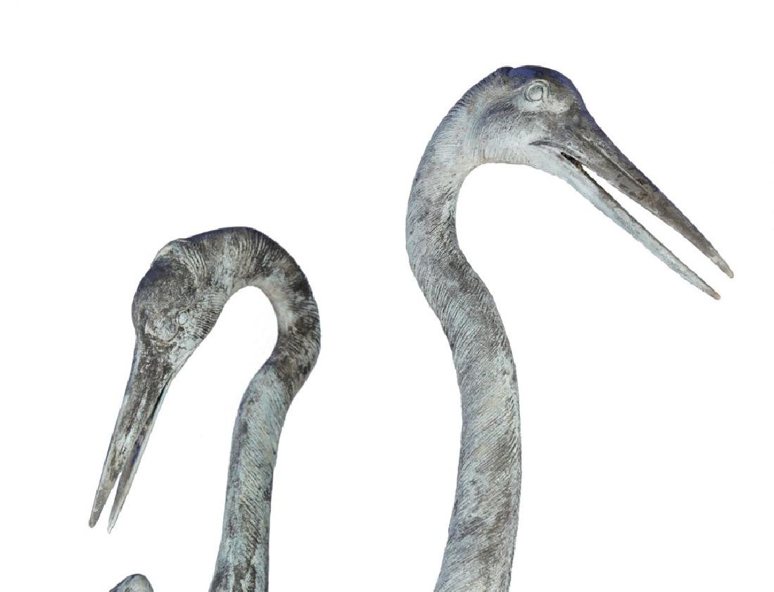 Group of Three Bronze Herons, 20thc. - 3
