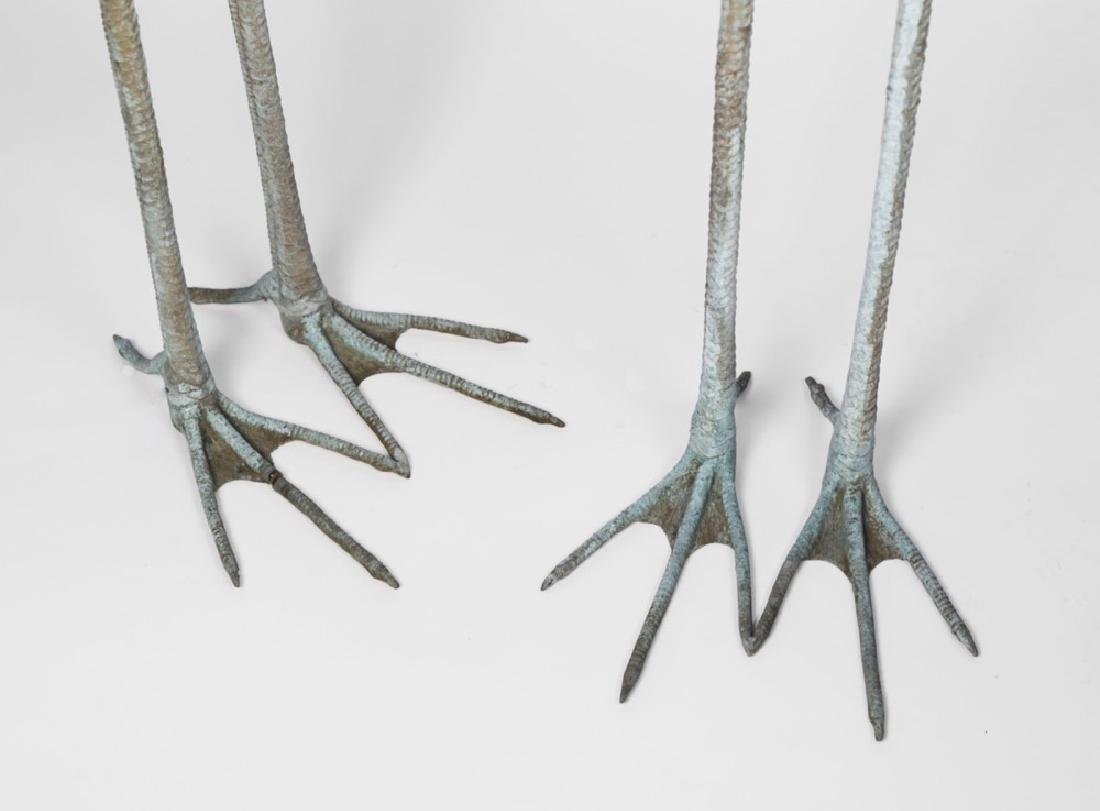 Group of Three Bronze Herons, 20thc. - 4