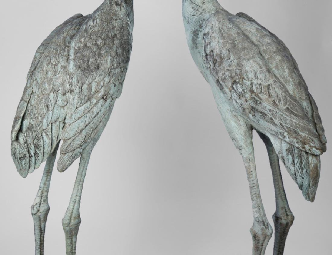 Group of Three Bronze Herons, 20thc. - 8