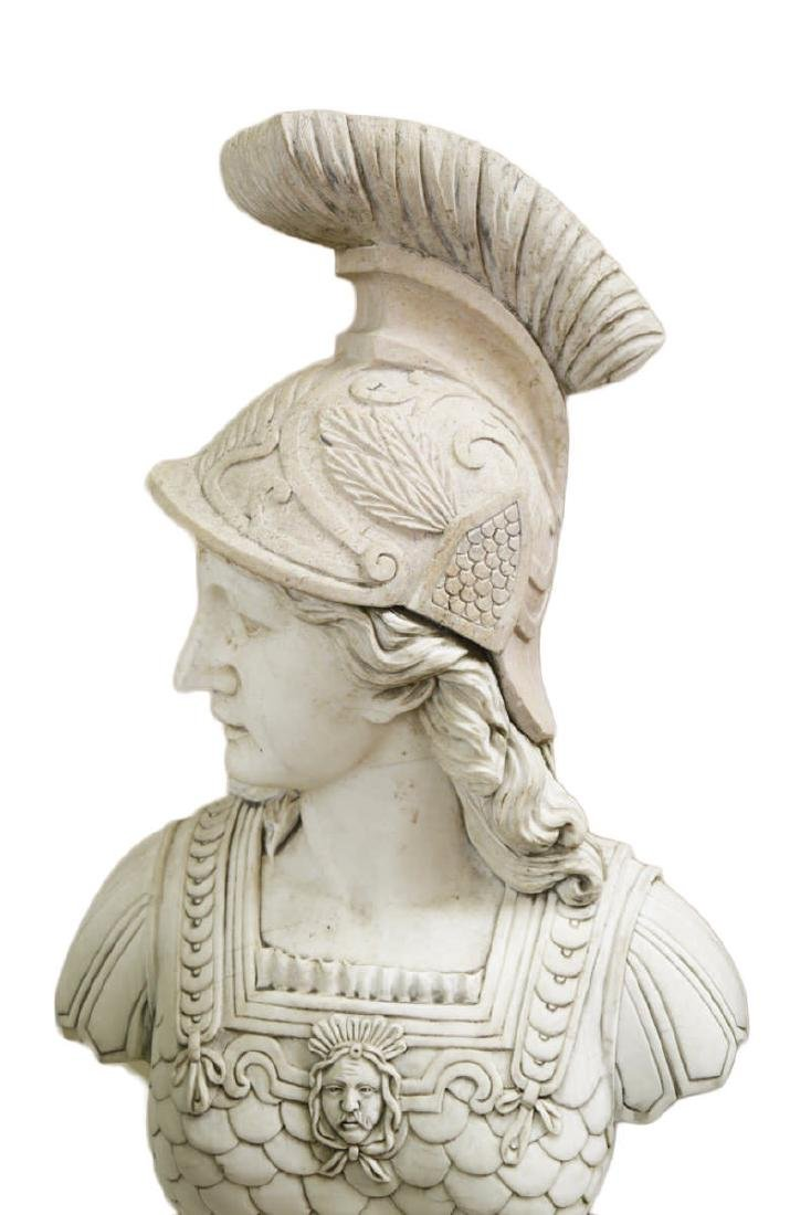 Carved Marble Bust of Athena