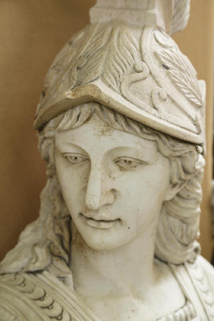 Carved Marble Bust of Athena - 2