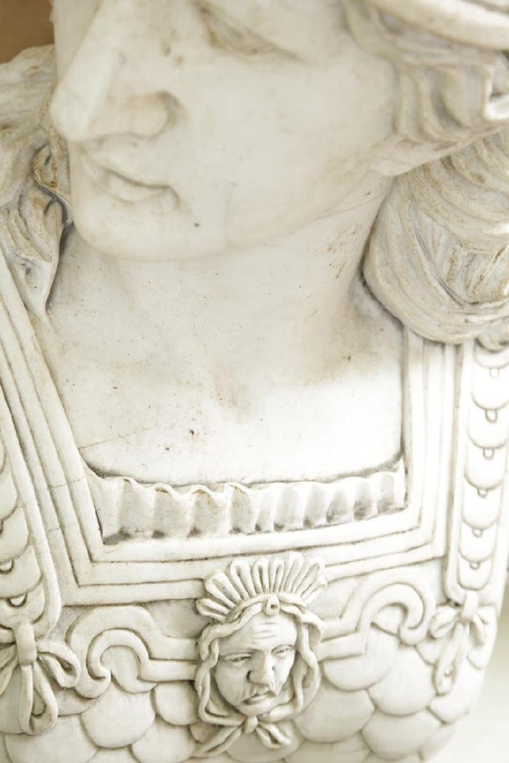 Carved Marble Bust of Athena - 3