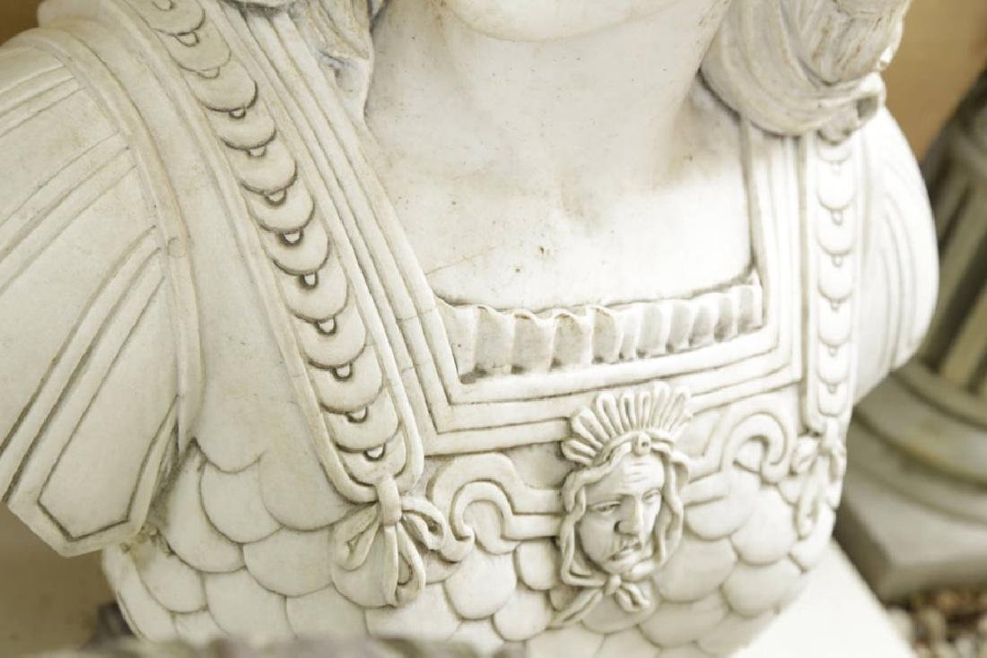 Carved Marble Bust of Athena - 4