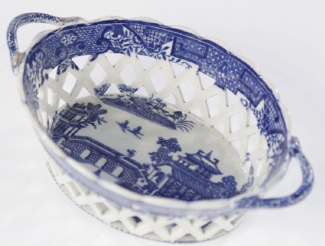 An English Soft Paste Porcelain Chestnut Basket, 18thc.