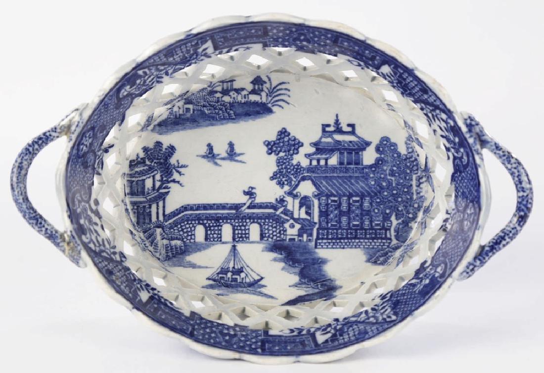 An English Soft Paste Porcelain Chestnut Basket, 18thc. - 2
