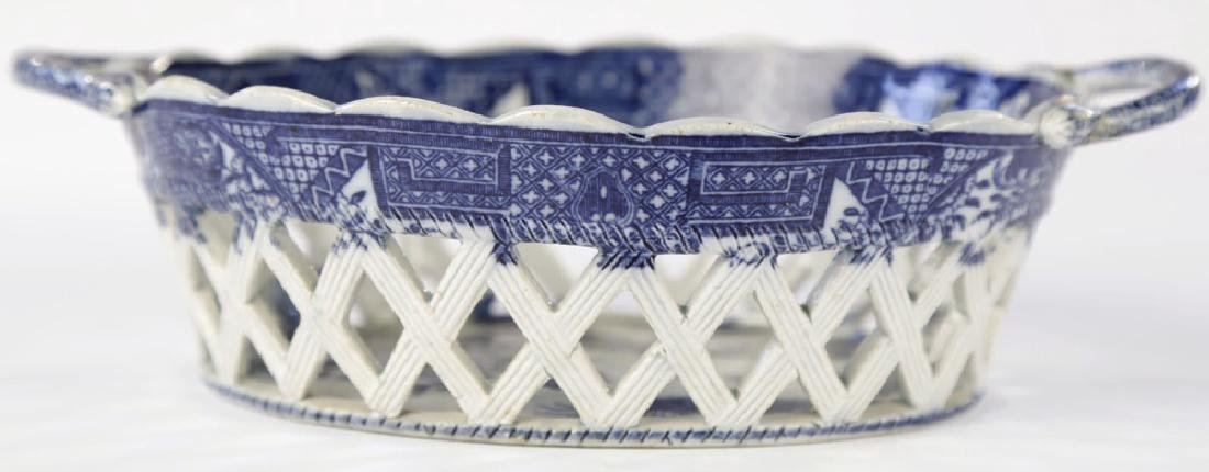 An English Soft Paste Porcelain Chestnut Basket, 18thc. - 3