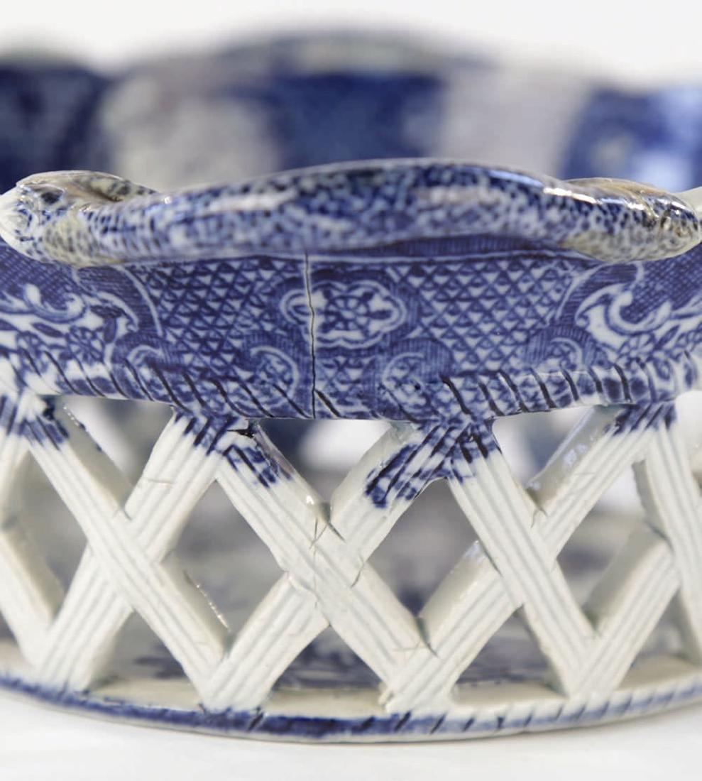 An English Soft Paste Porcelain Chestnut Basket, 18thc. - 4