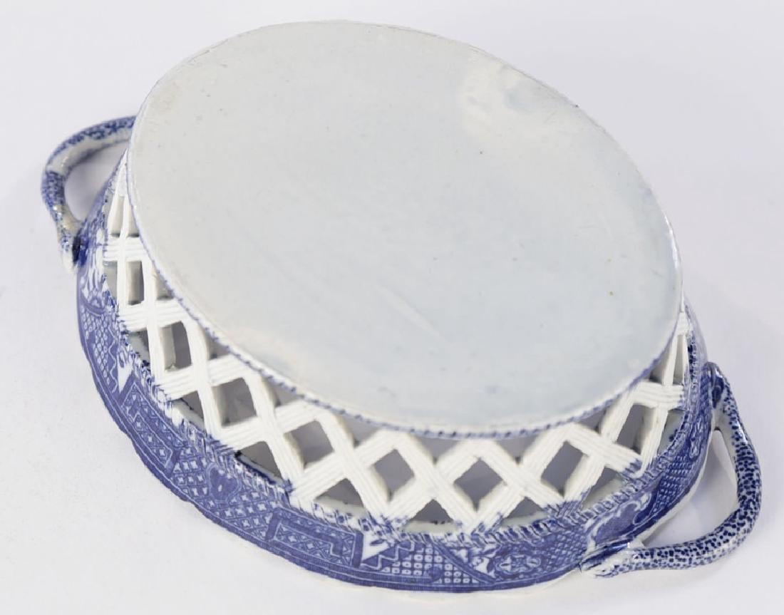 An English Soft Paste Porcelain Chestnut Basket, 18thc. - 5