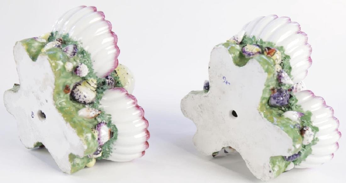 Pair 19th Century German Porcelain Shell Form Sweetmeat - 5