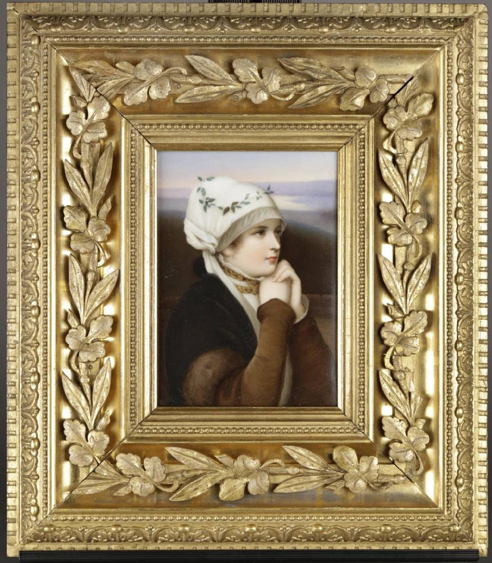 A Dresden Hand Painted Porcelain Plaque, 19th Century - 2