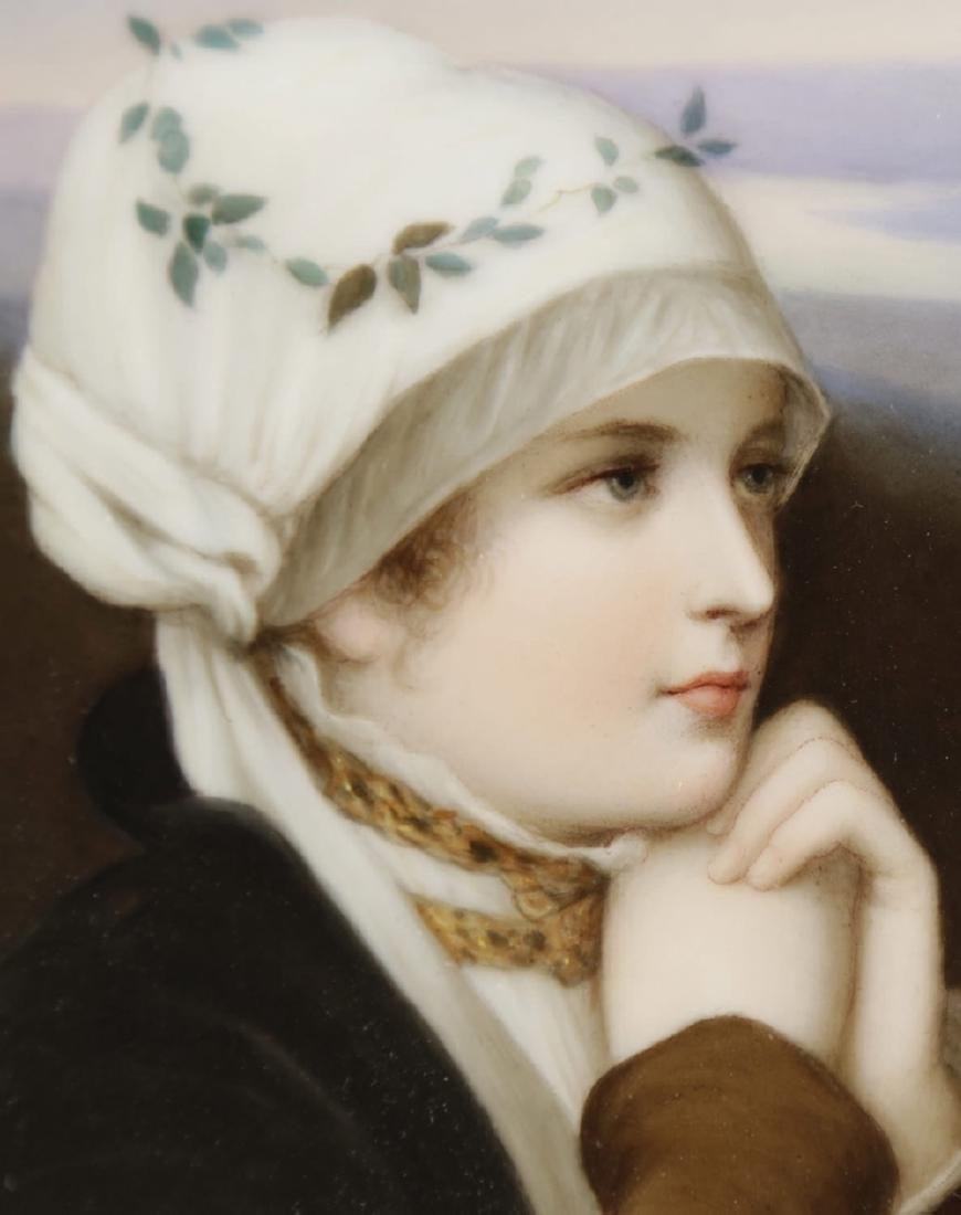 A Dresden Hand Painted Porcelain Plaque, 19th Century - 3