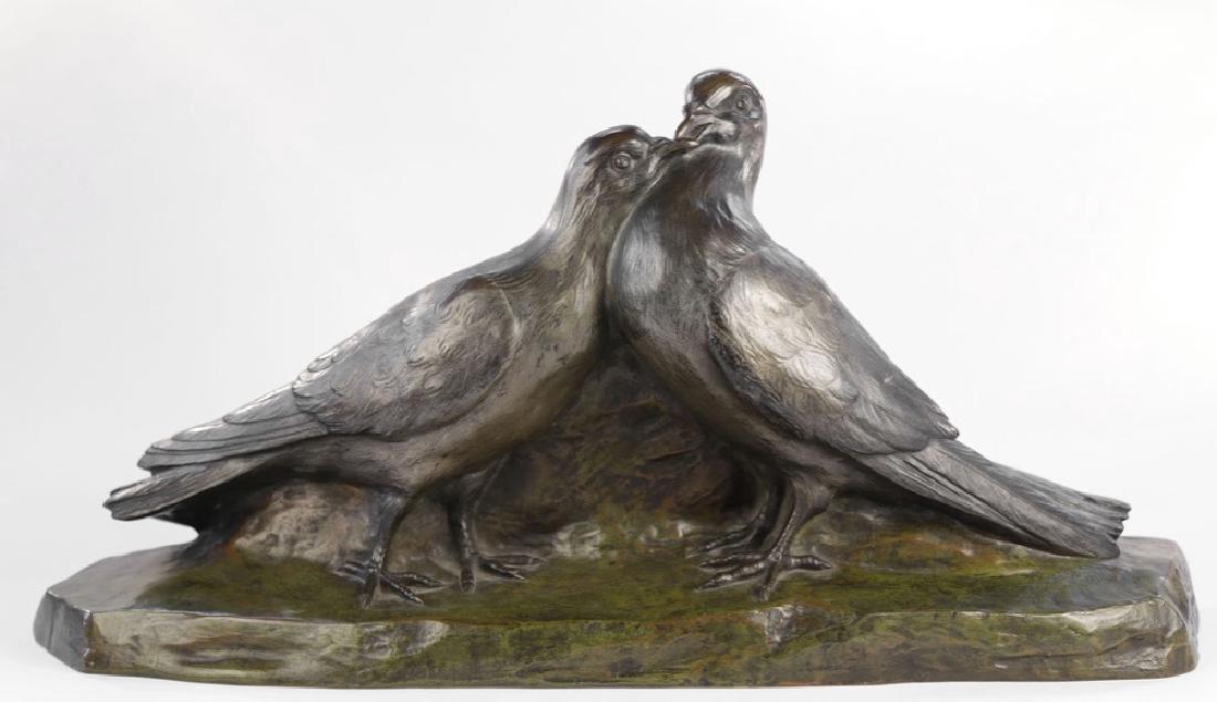 Giuseppe D'Aste (Italian 1881 - 1945) Bronze Lovebirds
